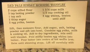 Grandpa Pals' Sunday Morning Waffles