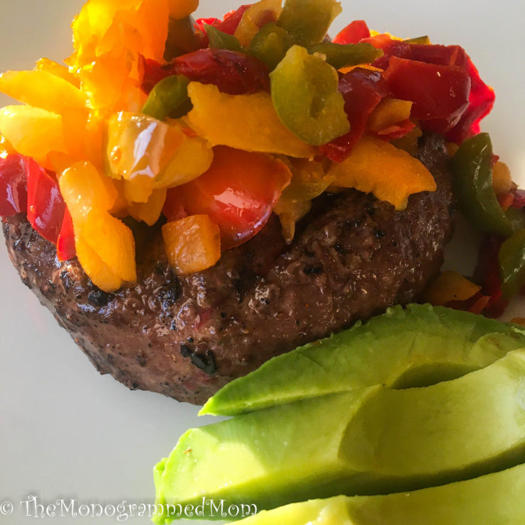 Fajita Burgers {Whole30} {Paleo}