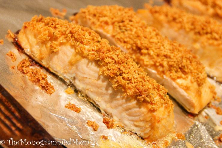 Chex-Crusted Salmon {Gluten-free}
