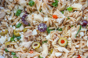 Greek Chicken Orzo Salad