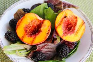 Grilled Peach Salad {Whole30} {Paleo}