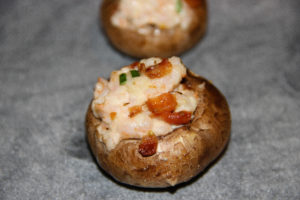 Bacon & Shrimp Stuffed Mushrooms {Whole30} {Paleo}