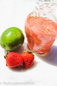 Strawberry-Lime Salad Dressing {Gluten-free}