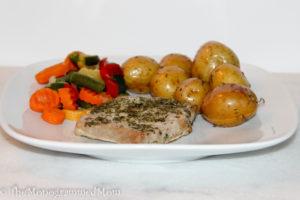 One Pan Ranch Pork Chops & Potatoes {Whole30} {Paleo}