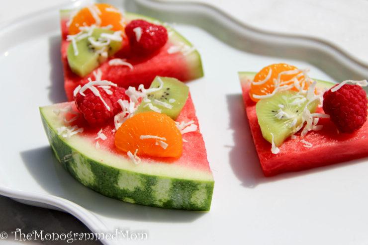 Watermelon Fruit Pizzas {Whole30} {Paleo}