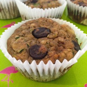 Banana Zucchini Chocolate Chip Muffins